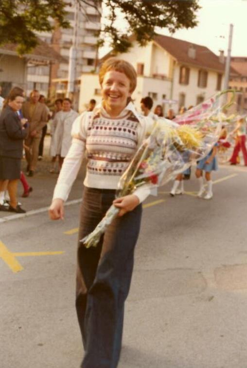 Ida am Turnfestumzug 1974
